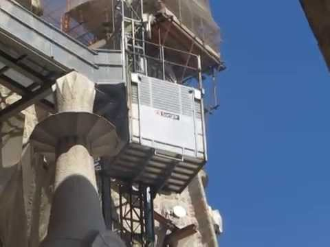 video clip - construction ongoing at la sagrada familia - barcelona - sidneysealine