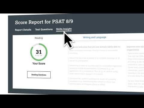 PSAT 8/9 Student Score Reports | SAT Suite of Assessments