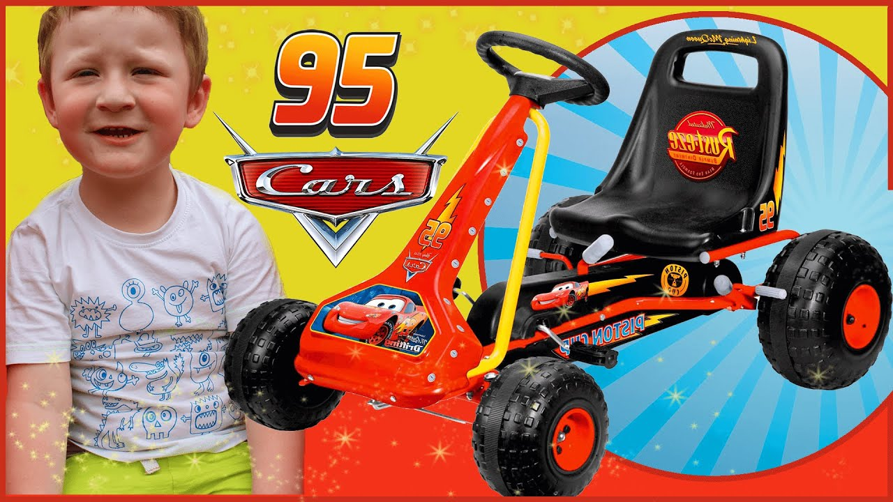Lightning McQueen CARS  Go Kart - Playground Fun - New Kids TV