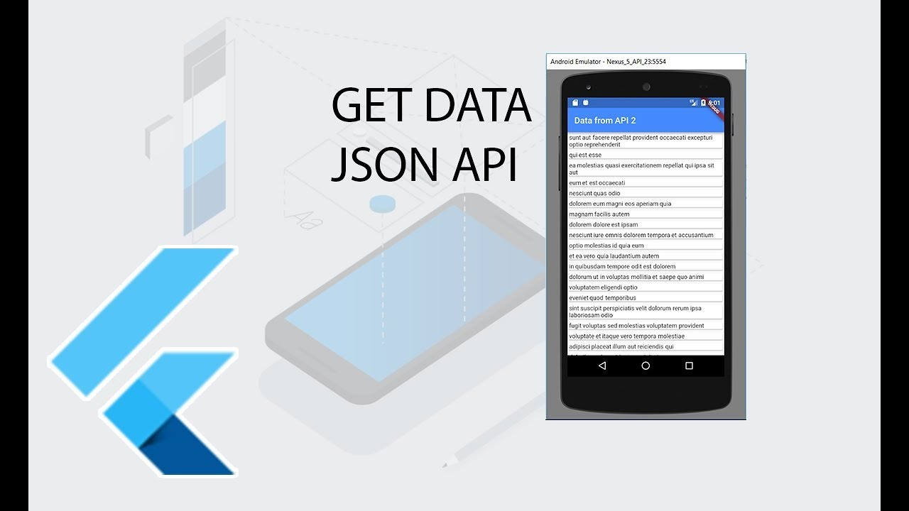Flutter Get Data JSON API