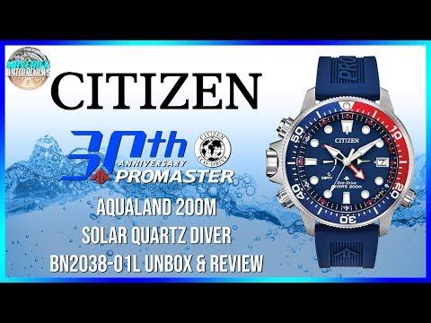 Dive Beast! | New Citizen Promaster Aqualand 200m Solar Quartz Diver BN2038-01L Unbox & Review