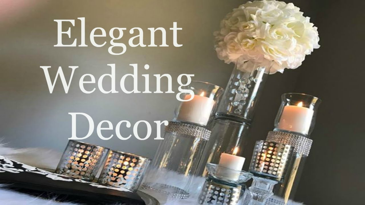Elegant wedding centerpieces - Elegant Dollar Tree Wedding Centerpiece Diy Wedding Decorations