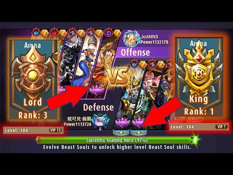 TOP ARENA | TOP ARENA 1 King VS TOP ARENA 3 Lord | Magic Rush