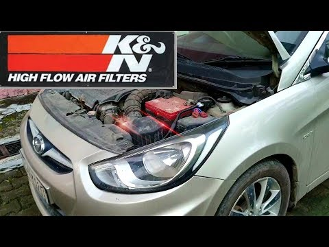Hyundai Verna Fluidic modified | K&N air Filter | Cleaning and recharge | Vid ARN DIY👍