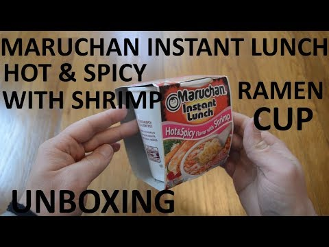 Unboxing Maruchan Instant Lunch Hot