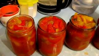 видео Сладкий перец в томатном соке
