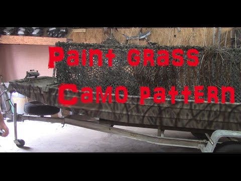 Duck Boat Build Part 1 Paint Camo Grass Pattern