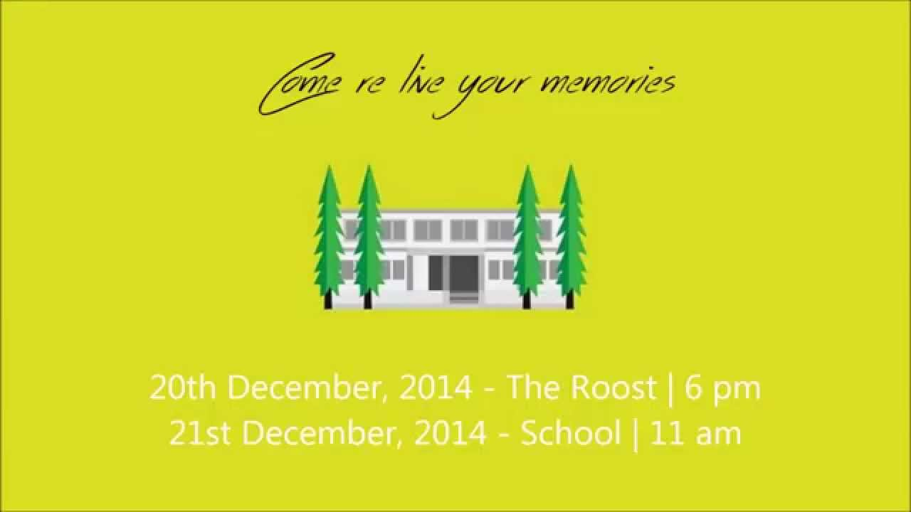 DMS Mysore Alumni Meet '14 Invitation Teaser - YouTube
