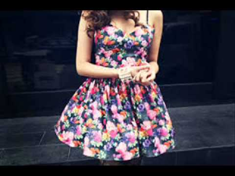 floral summer dresses tumblr - YouTube