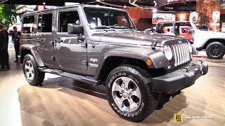 2017 Jeep Wrangler Sahara - Exterior and Interior Walkaround - 2017 Detroit Auto Show