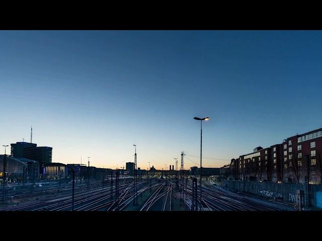 Sonnenaufgang / Untergang an der Hackerbrücke