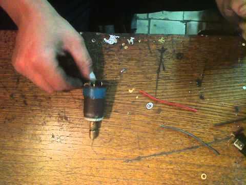 ручная мини дрель из принтера
