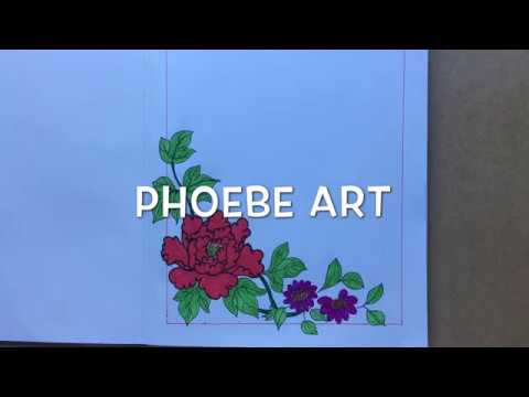 How To Draw Flower Corner Border Design For Page Design Notebook Design Project Work