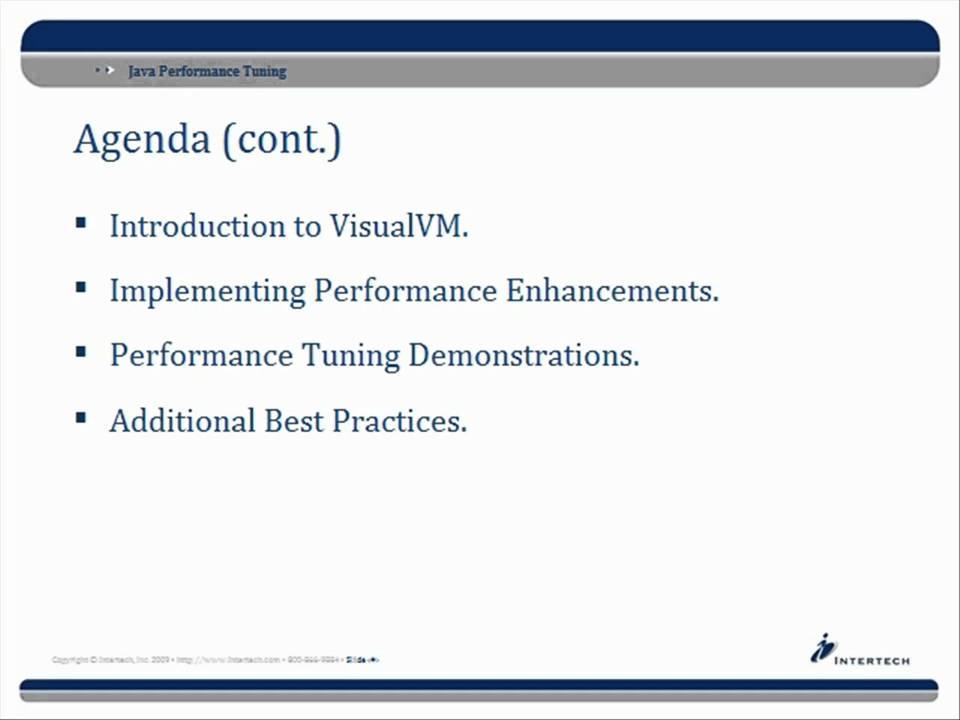 Intertech - Complete Java Performance Tuning Training - Part 1