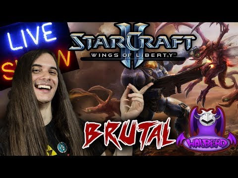 """STARCRAFT 2 LIVE! - """"Brutal Difficulty Wings of Liberty"""" 