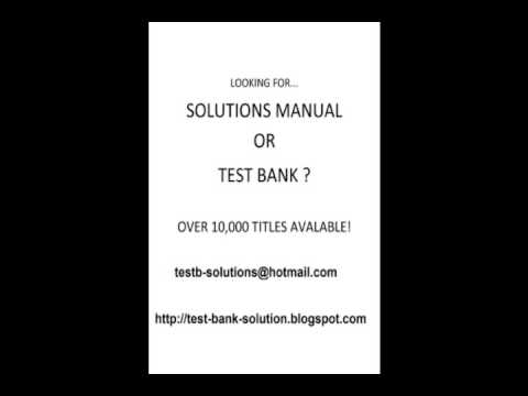 test bank solution manual youtube rh youtube com Blog Sites Starting a Blog