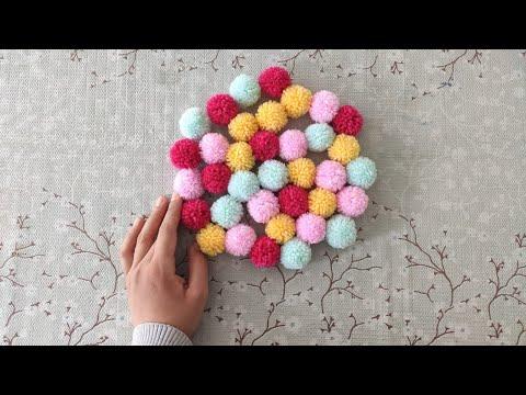 Çok Kolay Ponpon Yapımı / DIY Pratik Ponpon Yapımı