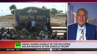 Israel names a settlement in the occupied Golan Heights after Donald Trump