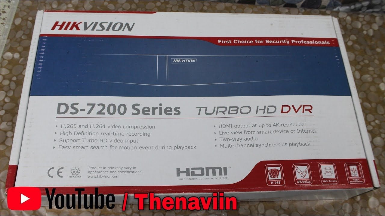 HikVision Dvr DS-7200 Series 1080P Unboxing And Full Review | TURBO HD DVR  8CH CCTV | Thenaviin