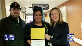 Surprise graduation for UT student and her grandpa at local hospital
