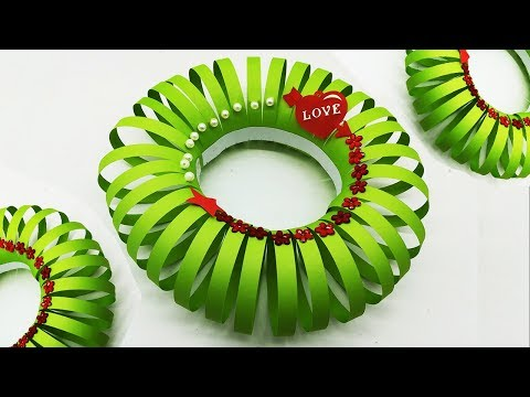 DIY Paper Christmas Wreath Ideas | Make Your Own Christmas Wreath | Paper Decoration