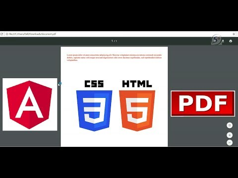 HTML With CSS To PDF In Angular