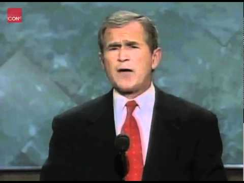 George W. Bush accepts the nomination as the republican candidate for president
