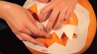 Как сделать фонарь из тыквы для Хэллоуина