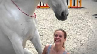 Яна Шаникова со своими лошадьми на свободе!