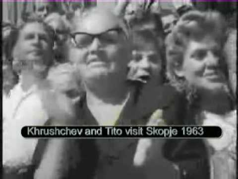 Tito and Khrushchev visit Skopje after earthquake 1963