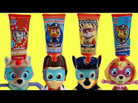 PAW PATROL Bath Time Soap Set with Bubbles, Learn Colors NEW Paddlin