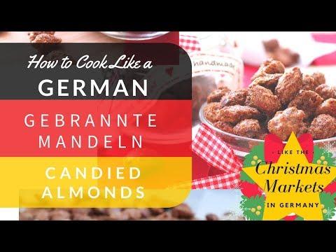 German Christmas Market Recipes: Gebrannte Mandeln (Candied Almonds) Weihnachtsmarkt Rezepte