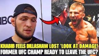 Khabib believes TJ Dillashaw lost against Cory Sandhagen, because he took more damage, Stipe Miocic