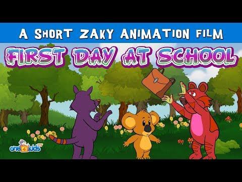 First Day At School - A Short Zaky Cartoon