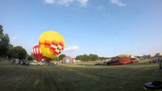 Hot Air Balloon Launch, Seymour, WI Hamburger Festival 2014