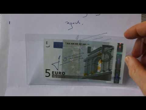 Money Autograph Collection European Central Bank President
