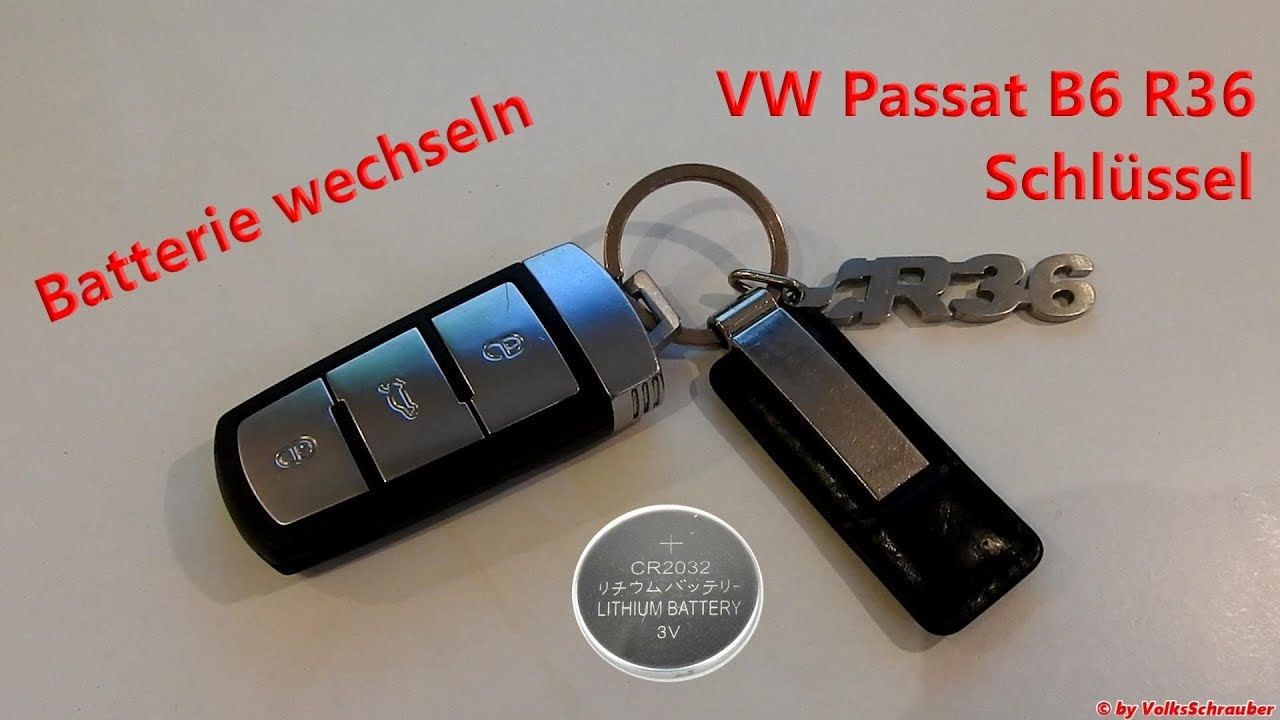 Batterie Cr2032 Batterie Wechsel Am Vw Passat B6 R36 Schlüssel Change Key Fob Battery Type Cr2032