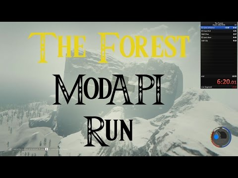 The Forest - MODAPI Run - 6mins (Plus Some Bonus Free Cam)