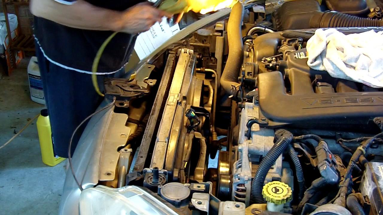 medium resolution of 99 dodge intrepid radiator replacement
