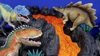 The Volcano Song - ♫ ♪ ♫ Dinosaur Songs for kids - Schleich Giant Volcano Lava T-Rex 42305