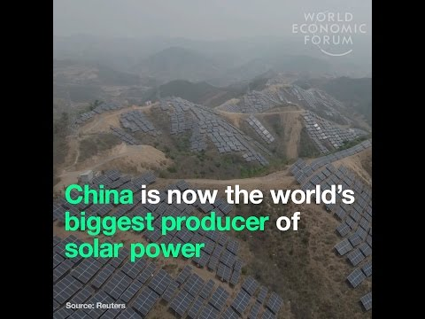 China is now the world's biggest producer of solar power