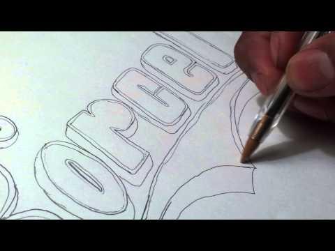 Dibujando el logo del grupo korcel musical