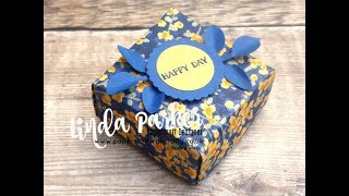 No Glue Box With Close Fitting Lid Using Garden Impressions DSP from Stampin' Up!