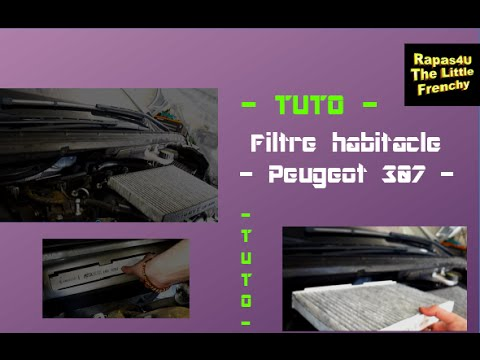 rapas4u tuto filtre habitacle pollen peugeot 307 changer la cartouche filtrante youtube. Black Bedroom Furniture Sets. Home Design Ideas