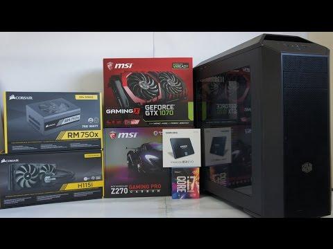INTEL i7 7700K Gaming Pc Build, Benchmark, OverClock Tests