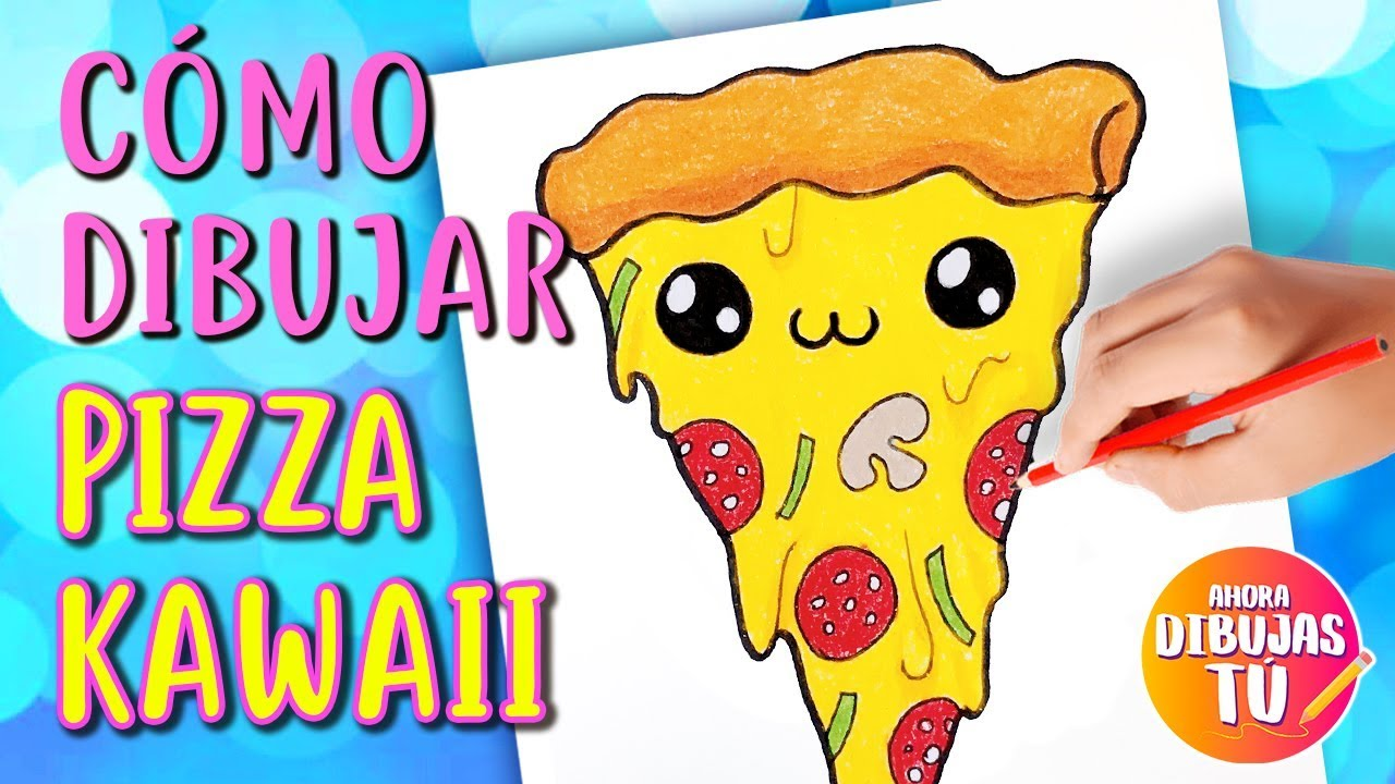 Cómo Dibujar PIZZA Kawaii