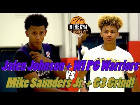 TOP PROSPECTS GAME Feat. Jalen Johnson and WI PG Warriors vs Mike Saunders Jr and G3 Grind