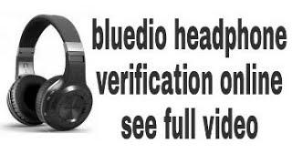 BLUEDIO headphone original verification