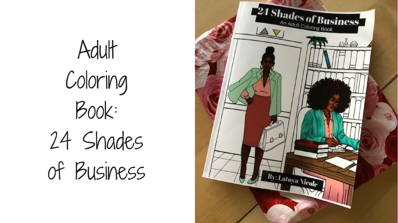 adult coloring book 24 shades of business