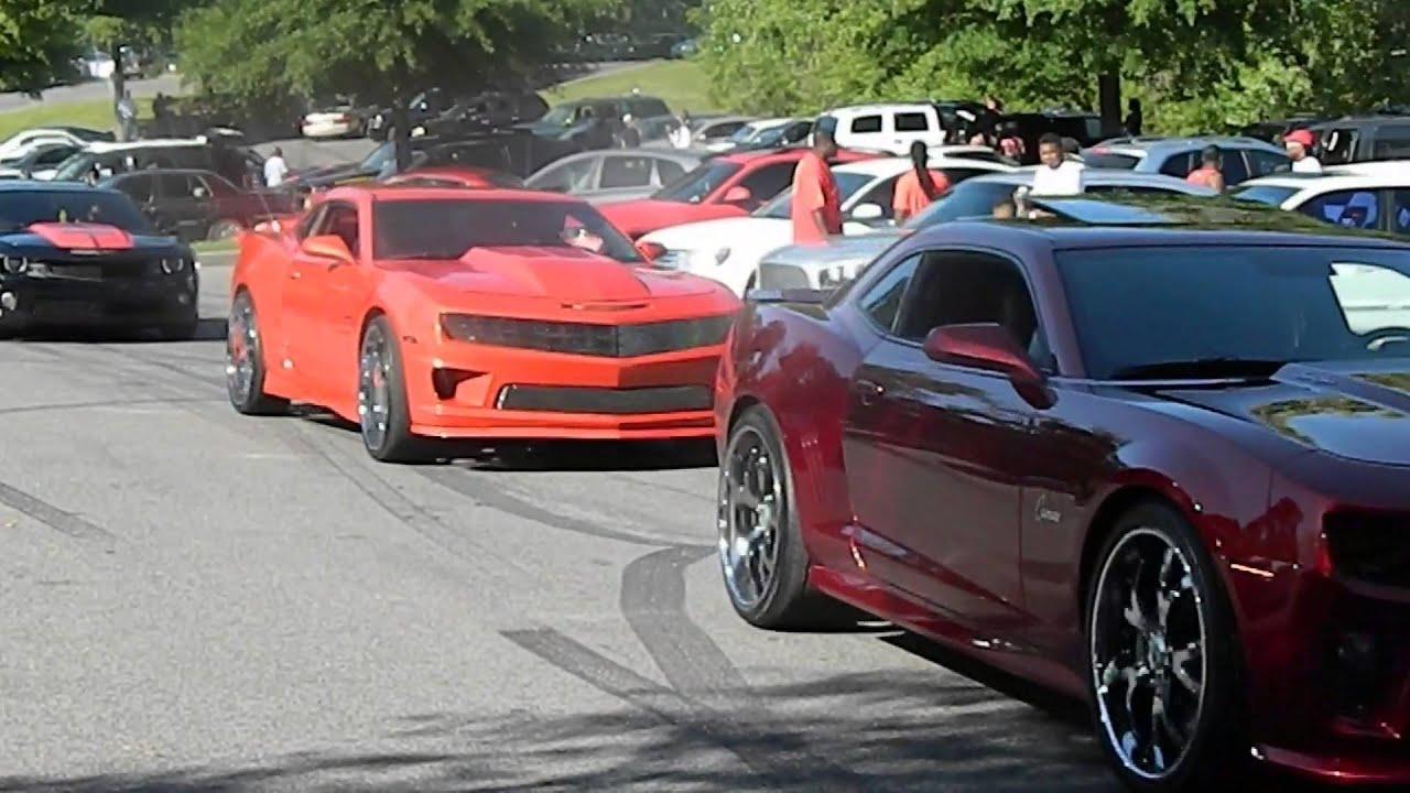 Camaro Car Club came thru Stuntin - YouTube